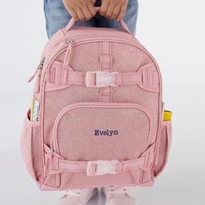 Pottery Barn Kids Mackenzie Pink Glitter backpack